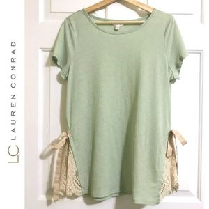 LC Lauren Conrad Tunic Short Sleeve Blouse Top